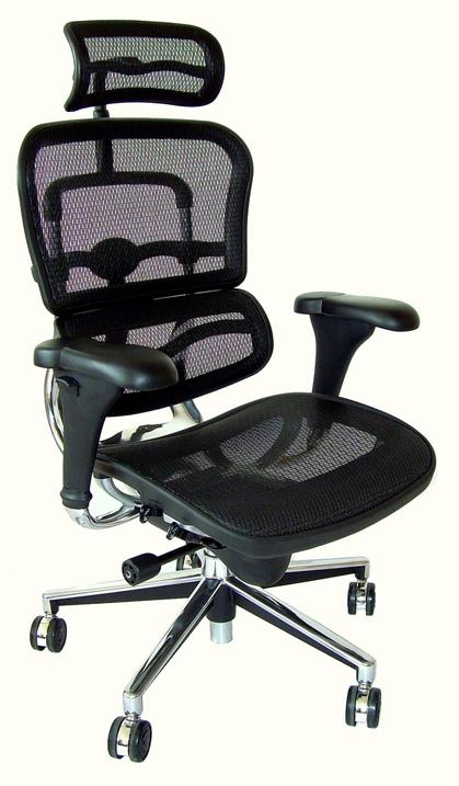 Silla para oficina ergon mica cabecero ajustable bogota for Sillas altas para oficina