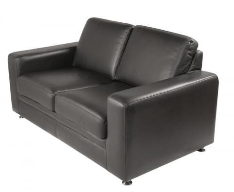 Sofa cuero sala de espera tapizado patas metalizas nime for Sofas de oficina