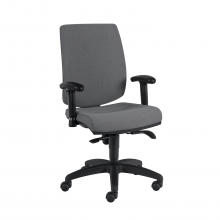 Sillas ergonómicas con espaldar y asiento tapizado