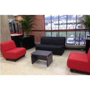 Sala de recibo con sofas tapizados